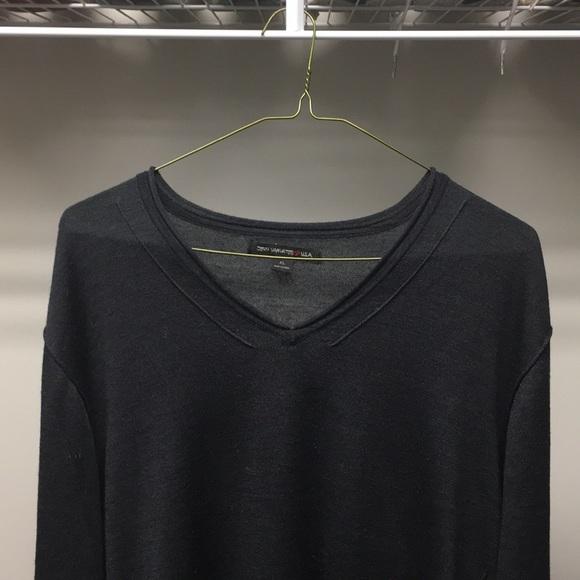 John Varvatos Star USA Men/'s Cherrywood Red Snap Button Henley Long Sleeve Shirt
